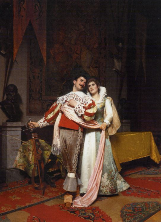 The Lovers Farewell :: Alfonso Savini - Romantic scenes in art and painting фото