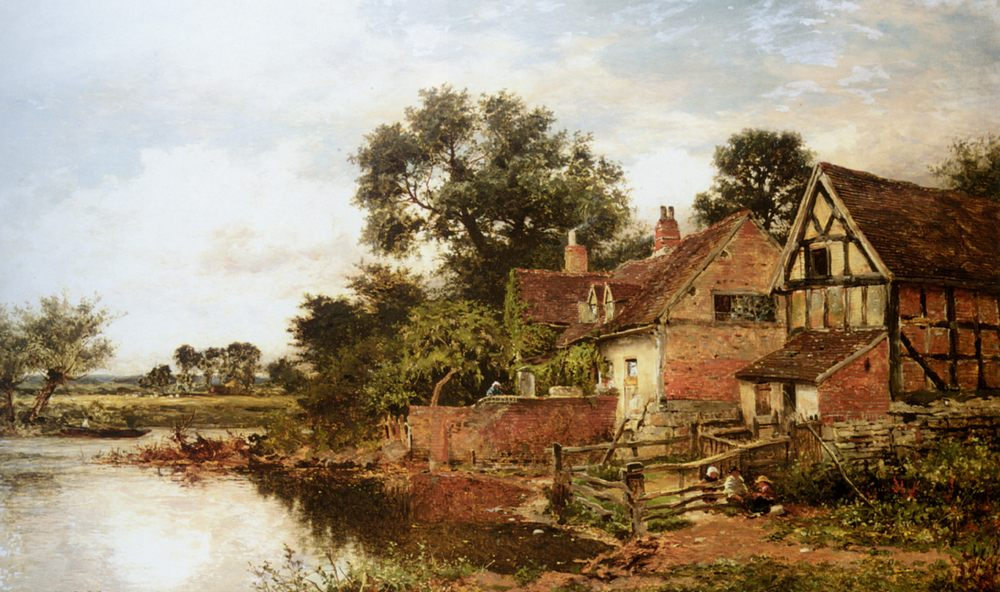 An Old Worcestershire Manor House :: Benjamin Williams Leader - Rural houses ôîòî