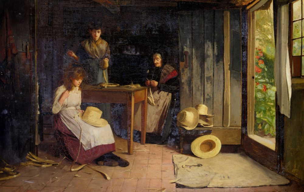 The Hat Makers :: Carlton Alfred Smith - Interiors in art and painting фото