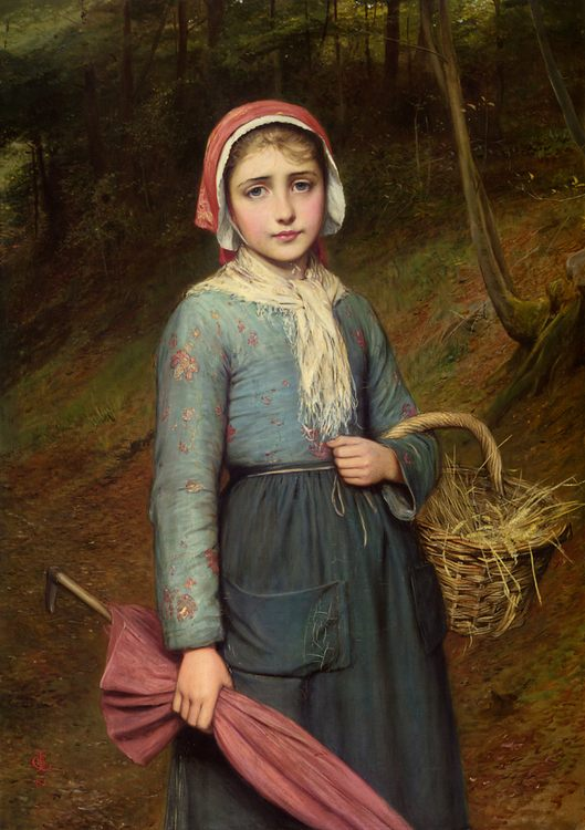 Returning Home :: Charles Sillem Lidderdale - village life фото
