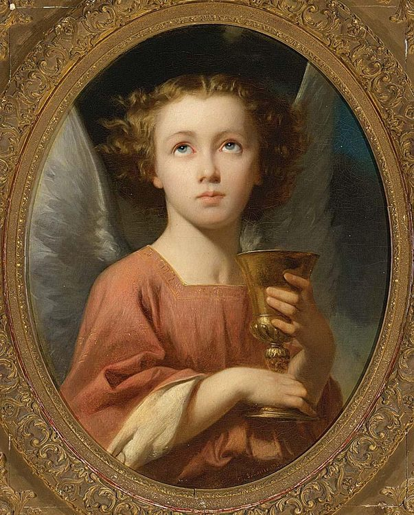 An Angel Holding a Chalice :: Charles Zacharie Landelle - Angels in art and painting фото