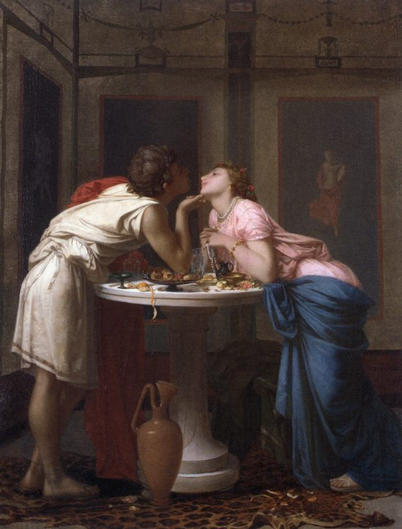 A Classical Courtship :: Auguste Toulmouche - Romantic scenes in art and painting фото