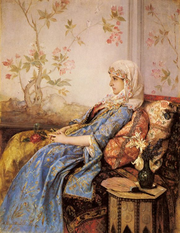 An Exotic Beauty in an Interior :: Auguste Toulmouche - 7 female portraits ( the end of 19 centuries ) in art and painting фото
