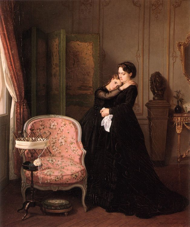 Consolation :: Auguste Toulmouche - Interiors in art and painting фото