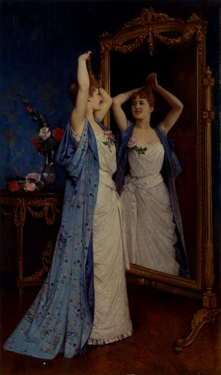 The Toilet  :: Auguste Toulmouche - Romantic scenes in art and painting фото