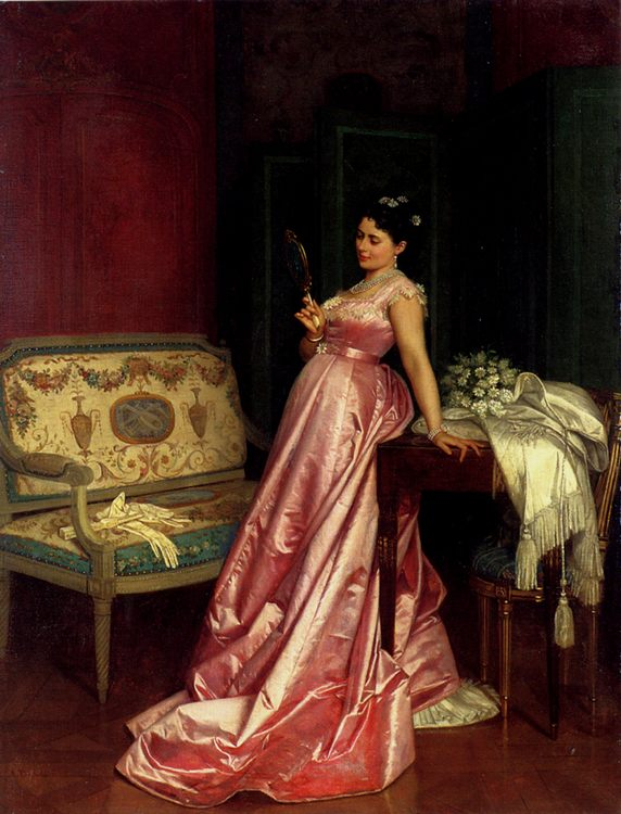 The Admiring Glance :: Auguste Toulmouche - Romantic scenes in art and painting фото