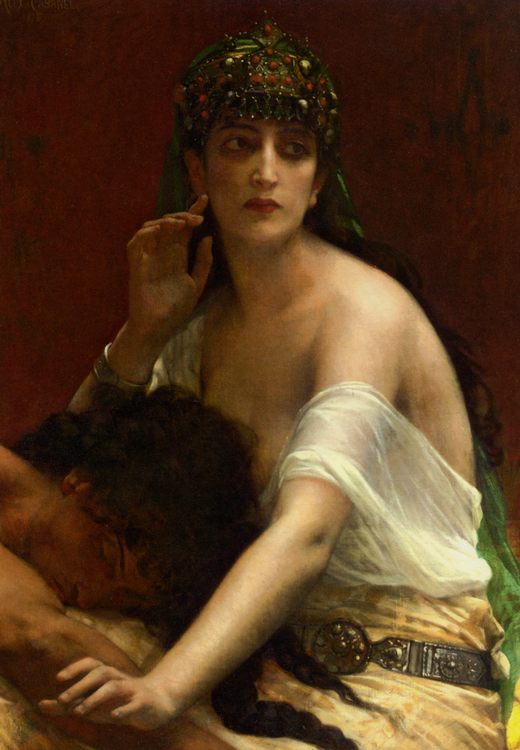 canvas Samson and Delilah :: Alexandre Cabanel - Bible scenes in art and painting ôîòî