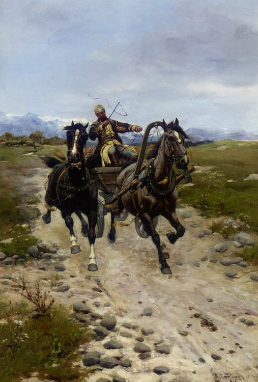 On The Move :: Bodhan Von Kleczynski - Horses in art фото
