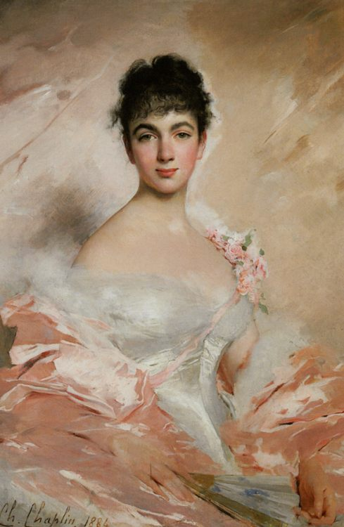 Woman in pink :: Charles Chaplin - 7 female portraits ( the end of 19 centuries ) in art and painting фото