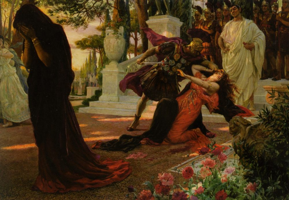 The Death of Messalina :: Georges Antoine Rochegrosse  - Antique world scenes ����