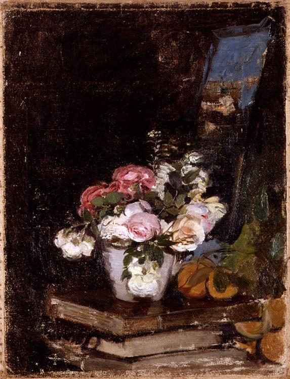 Flowers and books :: Ignacio Pinazo Camarlench - flowers in painting ôîòî