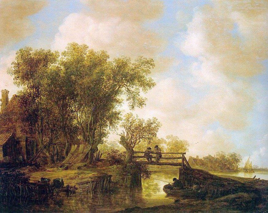 The Footbridge :: Jan van Goyen - Fishing scenes ôîòî