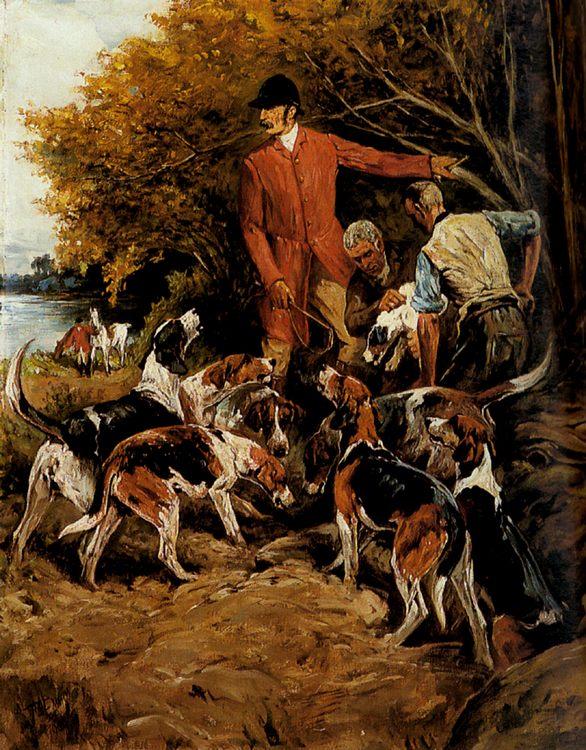 On the Scent :: John Emms  - Hunting scenes ôîòî
