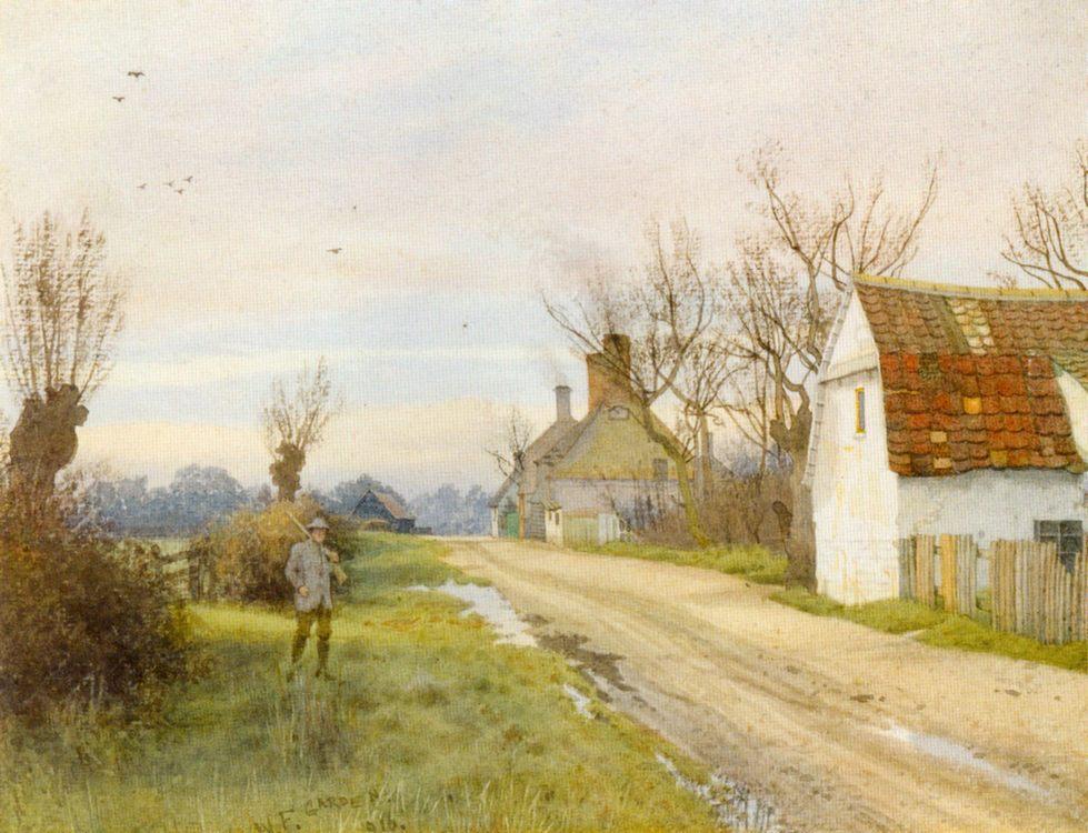 Hemingford Grey, Near St. Ives, Huntingdonshire :: William Fraser Garden - Hunting scenes ôîòî