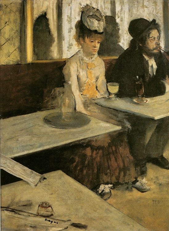 Absinthe :: Edgar Degas - man and woman фото