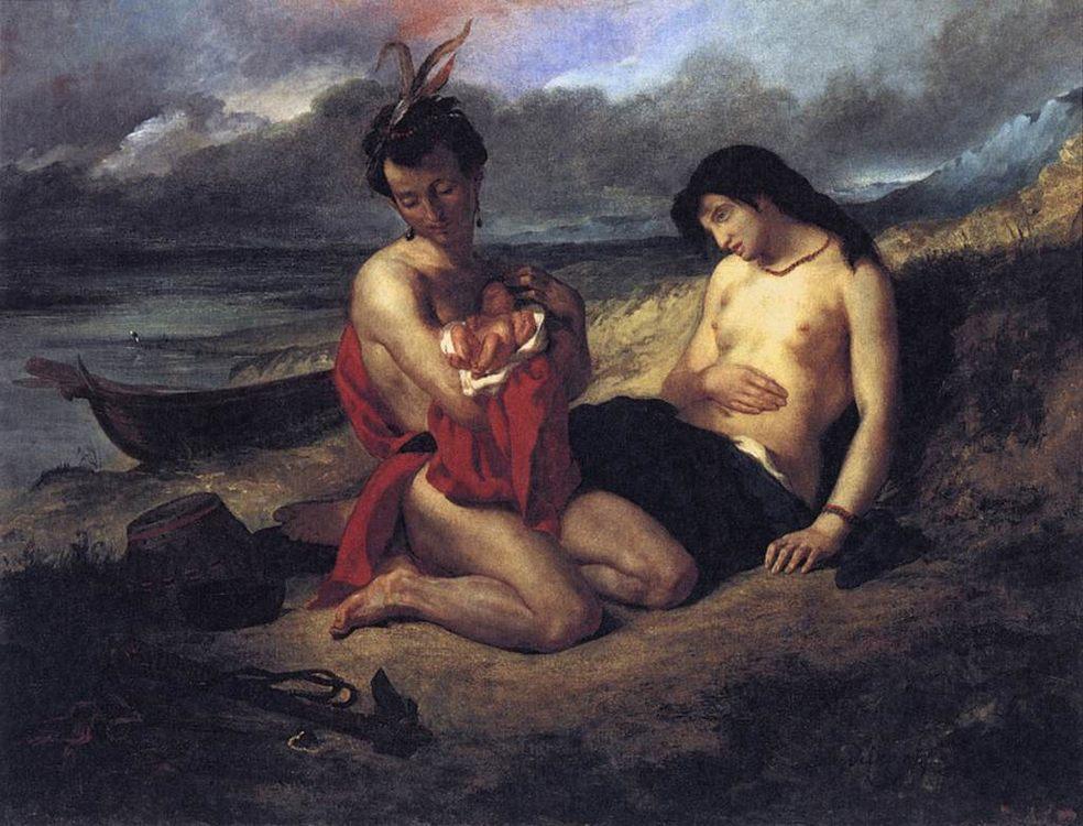 The Natchez :: Eugиne Delacroix  - man and woman ôîòî