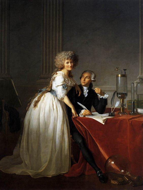 Portrait of Antoine-Laurent and Marie-Anne Lavoisier :: Jacques-Louis David  - man and woman фото