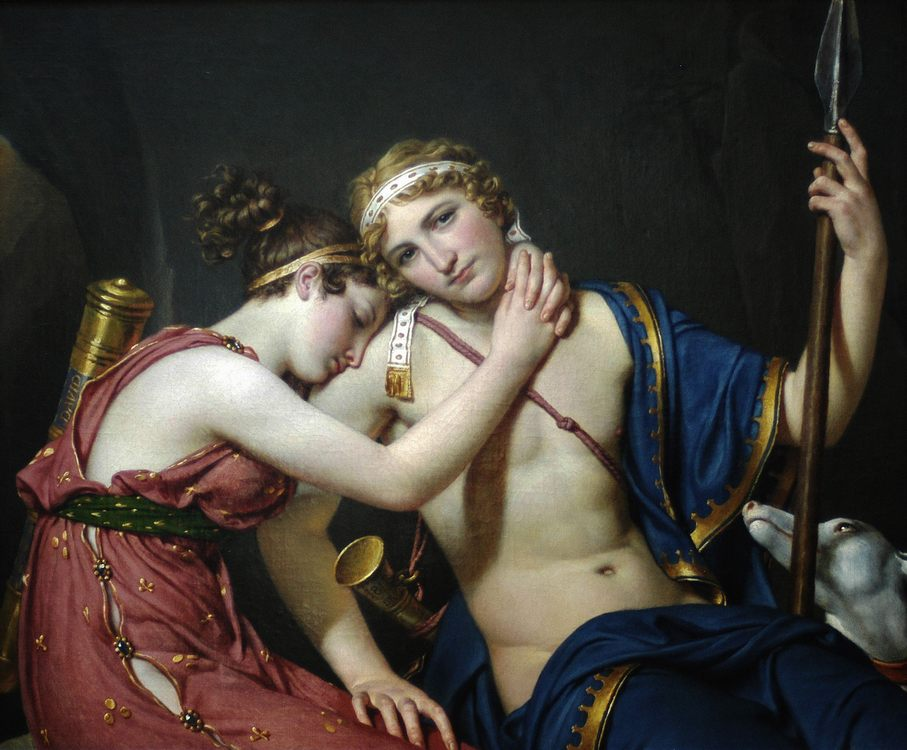 The Farewell of Telemachus and Eucharis :: Jacques-Louis David - man and woman фото