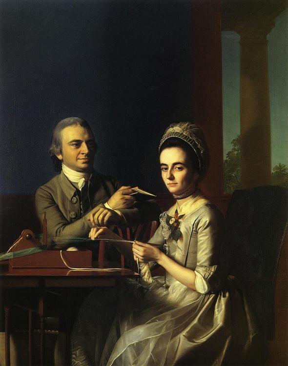 Mr. and Mrs Thomas Mifflin (Sarah Morris) :: John Singleton Copley  - man and woman ôîòî