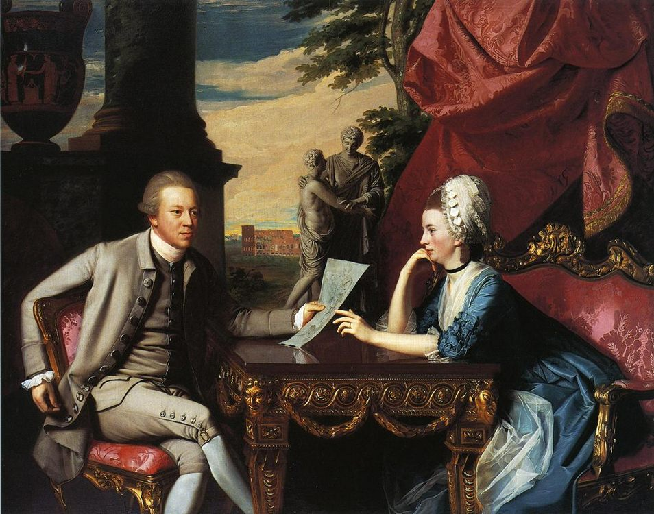 Mr. and Mrs. Ralph Izard (Alice Delancey) :: John Singleton Copley - man and woman фото