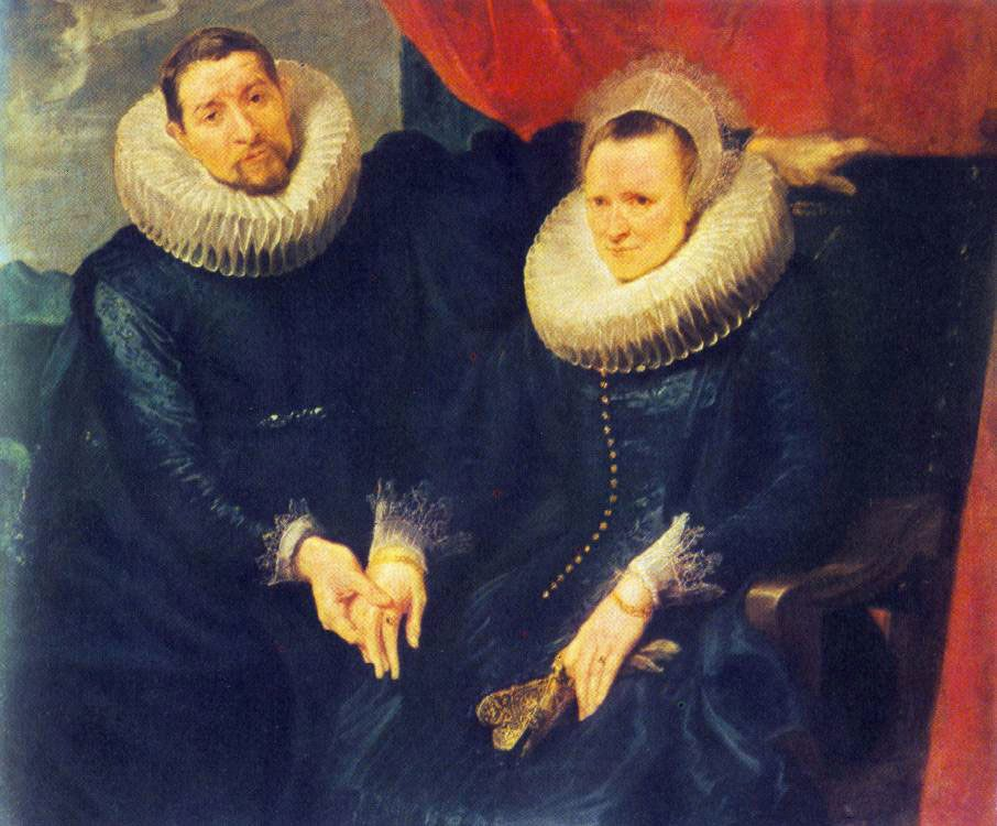 Portrait of a Married Couple :: Sir Antony van Dyck - man and woman фото
