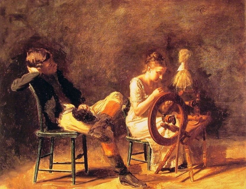 The Courtship :: Thomas Eakins - Romantic scenes in art and painting ôîòî