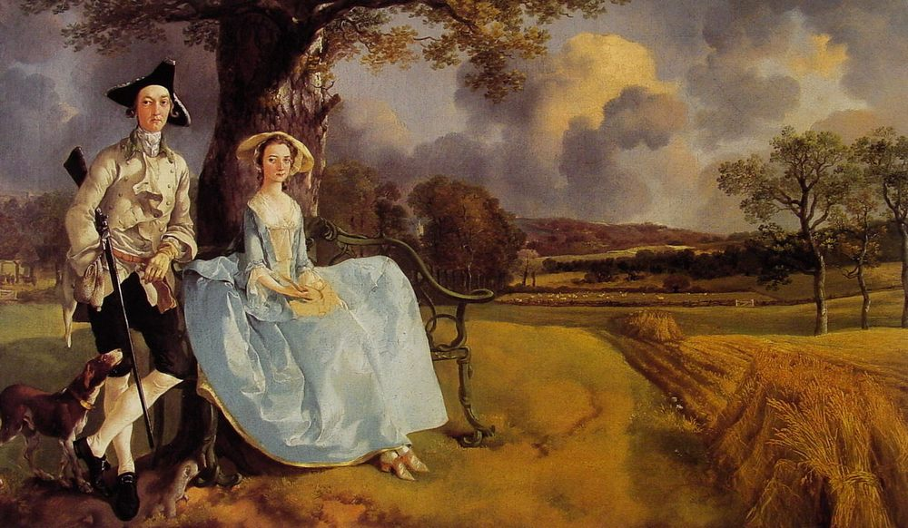 Mr and Mrs Andrews :: Thomas Gainsborough - man and woman фото