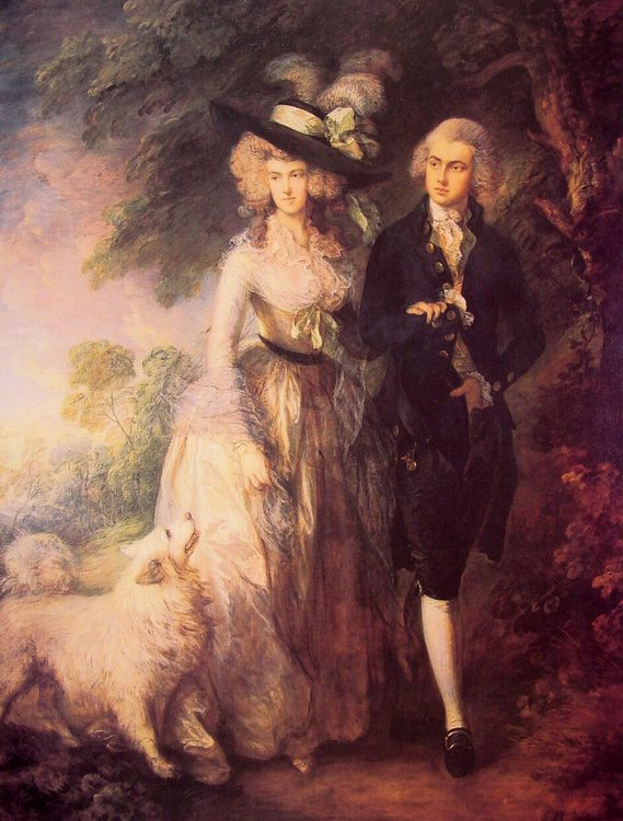 Mr and Mrs William Hallett :: Thomas Gainsborough - man and woman фото