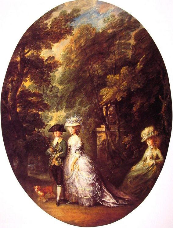The Duke and Duchess of Cumberland :: Thomas Gainsborough - man and woman фото