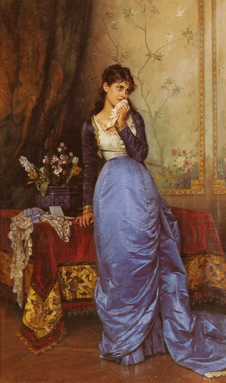 The Letter :: Auguste Toulmouche - Romantic scenes in art and painting фото