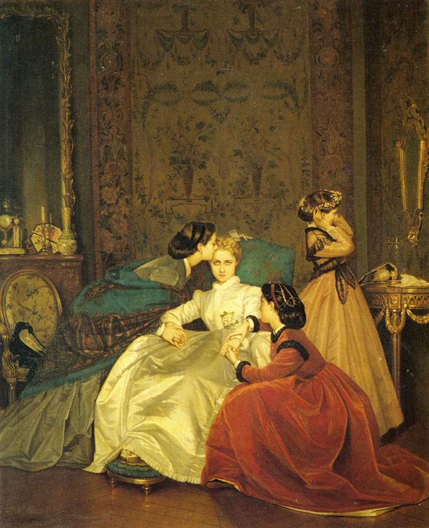 The Reluctant Bride :: Auguste Toulmouche - Romantic scenes in art and painting фото