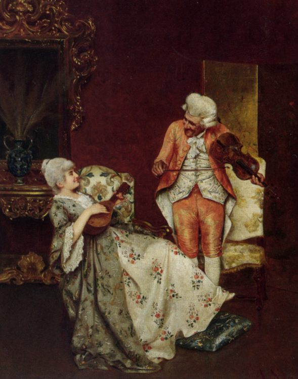 A Duet :: Alessandro Sani - Romantic scenes in art and painting ôîòî