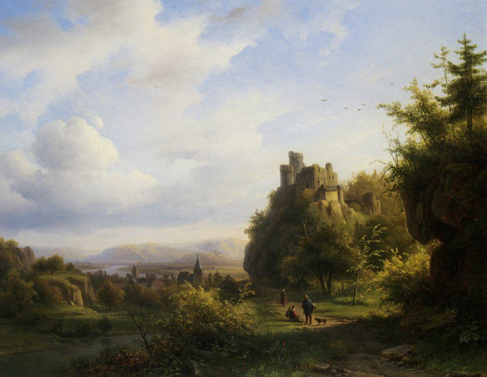 Landscape with a Castle Beyond :: Alexander Joseph Daiwaille - Architecture фото