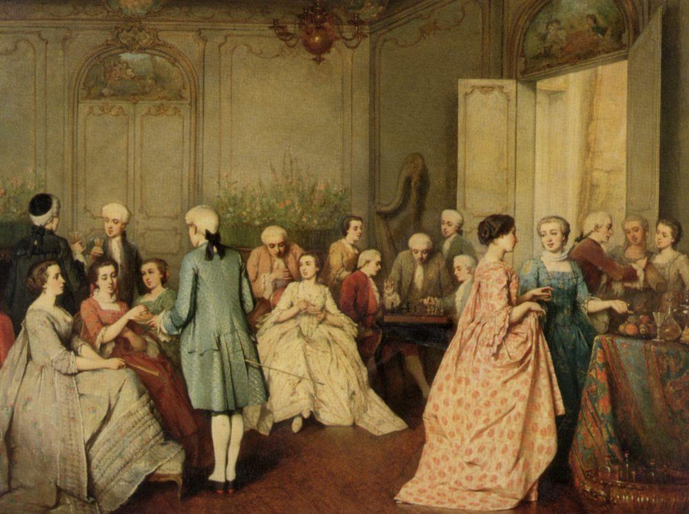Sortee in a Rococo Interior :: Benjamin Eugene Fichel - Balls and receptions ôîòî