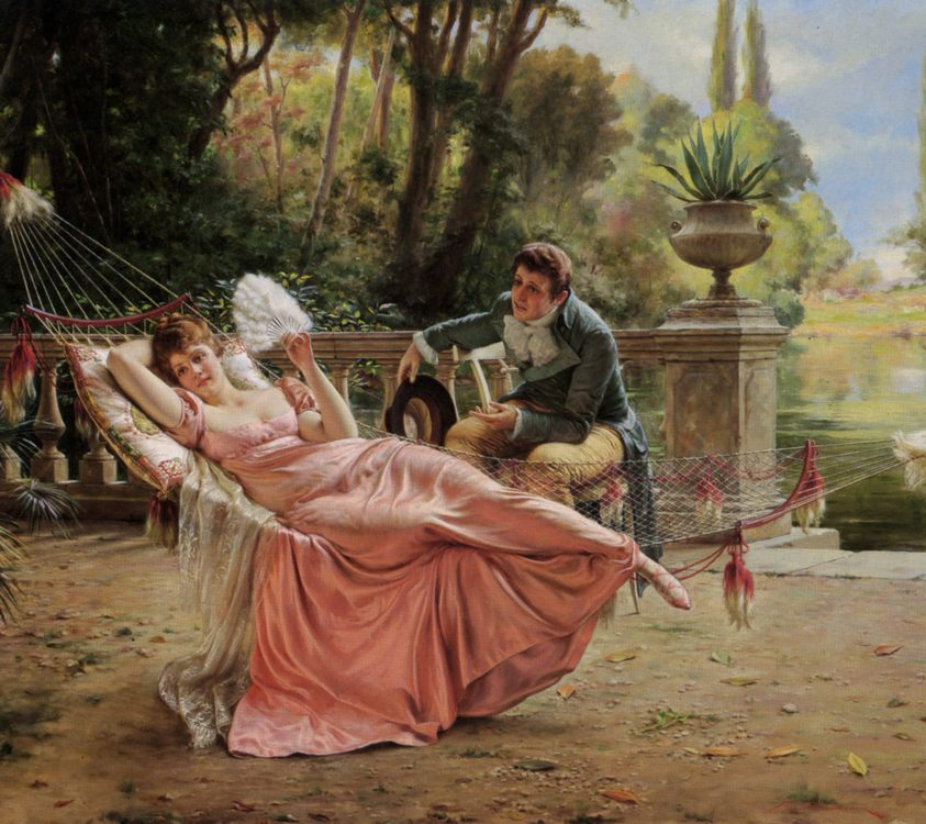 The Proposal :: Charles Joseph Frederick Soulacroix - Romantic scenes in art and painting фото