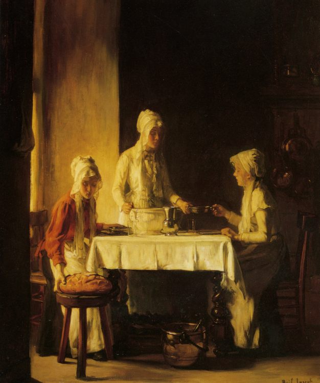 Preparing The Meal :: Claude Joseph Bail - Interiors in art and painting фото