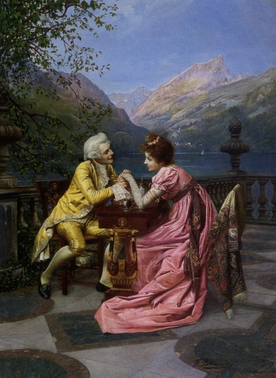 The Proposal :: Francois Brunery  - Romantic scenes in art and painting фото