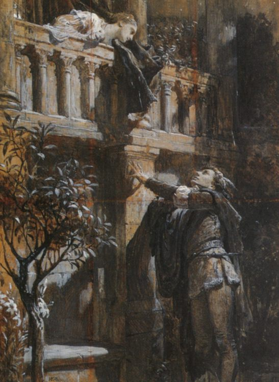 Romeo and Juliet :: Frank Dicksee - Romantic scenes in art and painting фото