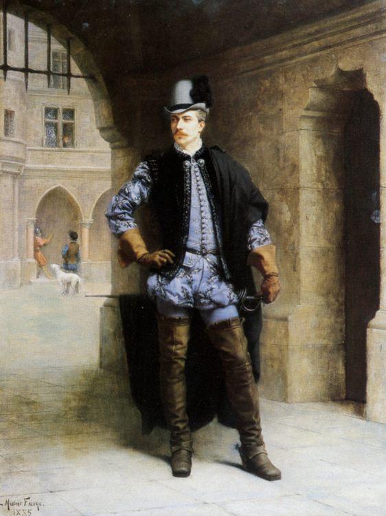 A Courtier of Henri III :: Maxime Faivre - History painting ôîòî
