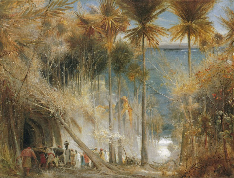 Ali Baba abd the Forty Thieves :: Albert Goodwin - mythology and poetry фото