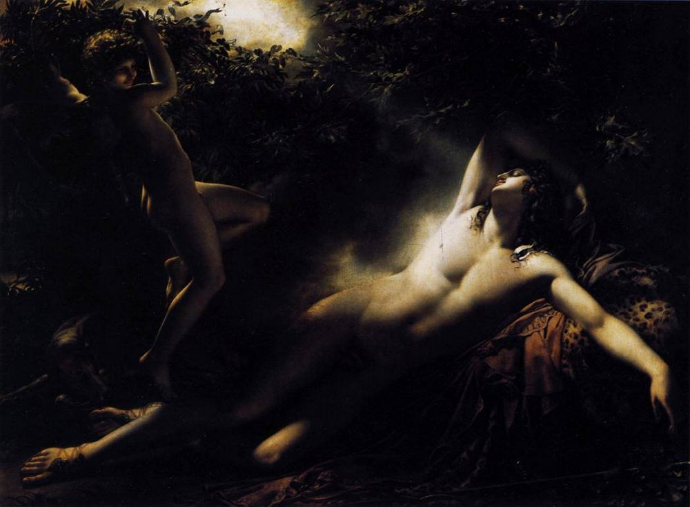 The Sleep of Endymion :: Anne-Louis Girodet de Roucy-Triosson - mythology and poetry фото