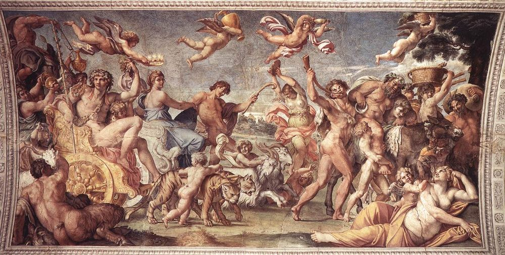 Triumph of Bacchus and Ariadne :: Annibale Carracci - mythology and poetry фото