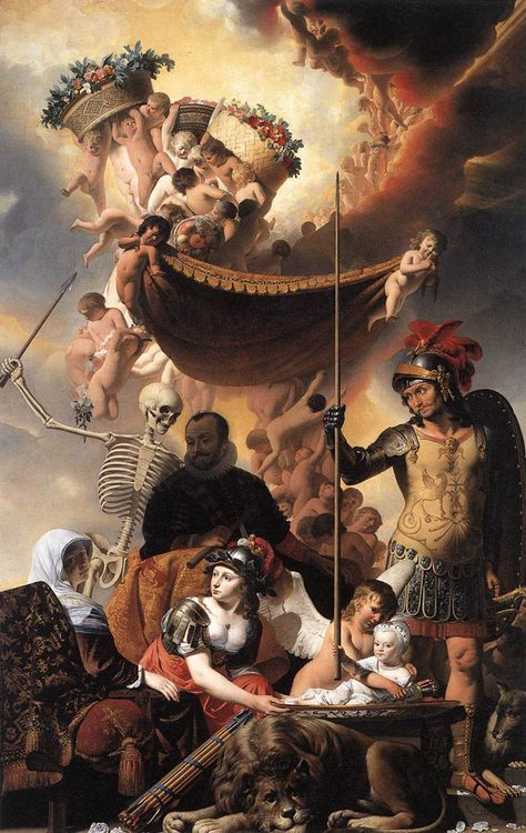 Allegory of the Birth of Frederik Hendrik :: Caesar van Everdingen - Allegory in art and painting фото
