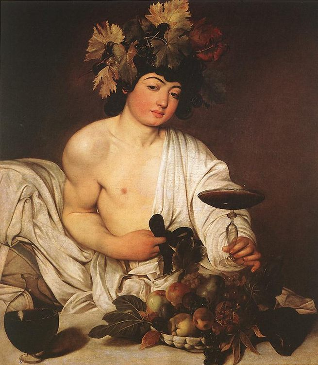 Bacchus :: Caravaggio - mythology and poetry фото