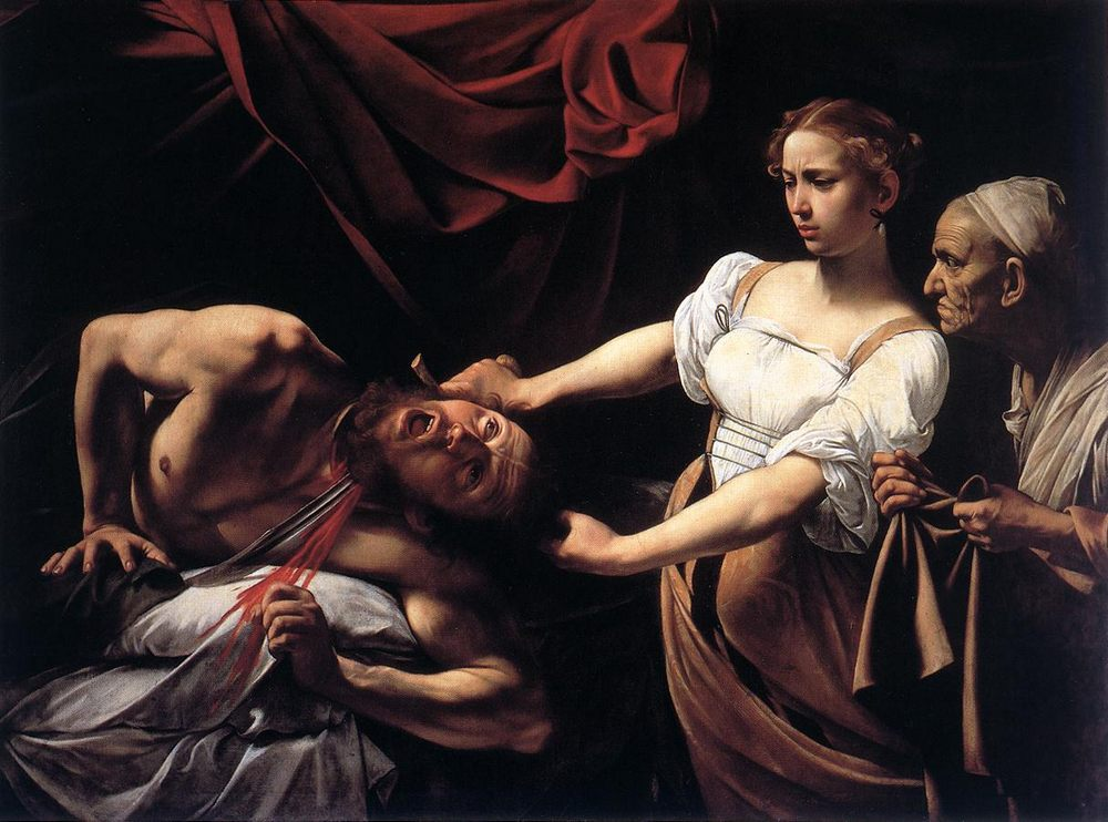 Judith Beheading Holofernes :: Caravaggio - Bible scenes in art and painting фото
