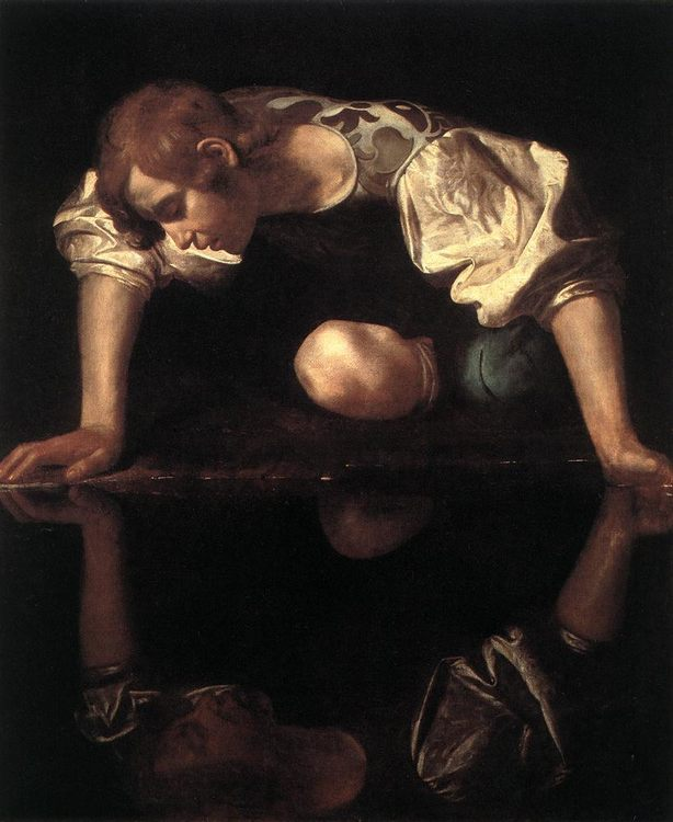 Narcissus :: Caravaggio - mythology and poetry фото