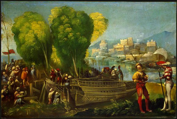 Aeneas and Achates on the Libyan Coast :: Dosso Dossi - mythology and poetry фото