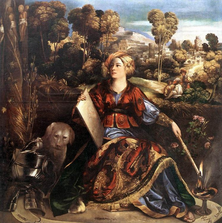 Circe (or Melissa) :: Dosso Dossi - mythology and poetry фото