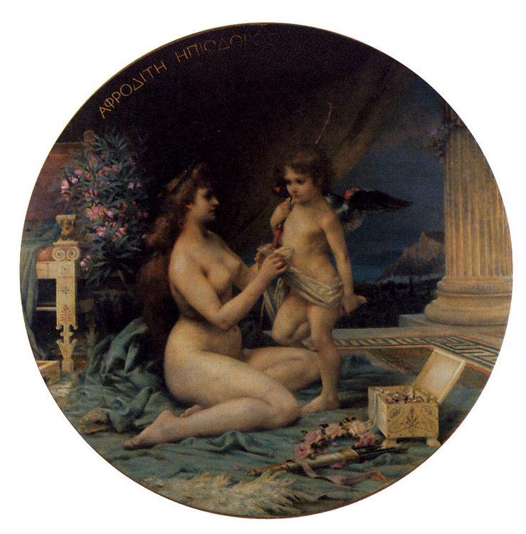 Aphrodite and Eros :: Henri Camille Danger - mythology and poetry ôîòî