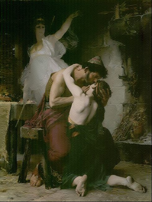 Reunion of Odysseus and Telemachus :: Henri-Lucien Doucet - mythology and poetry фото